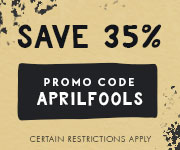 Save with promo code APRILFOOLS